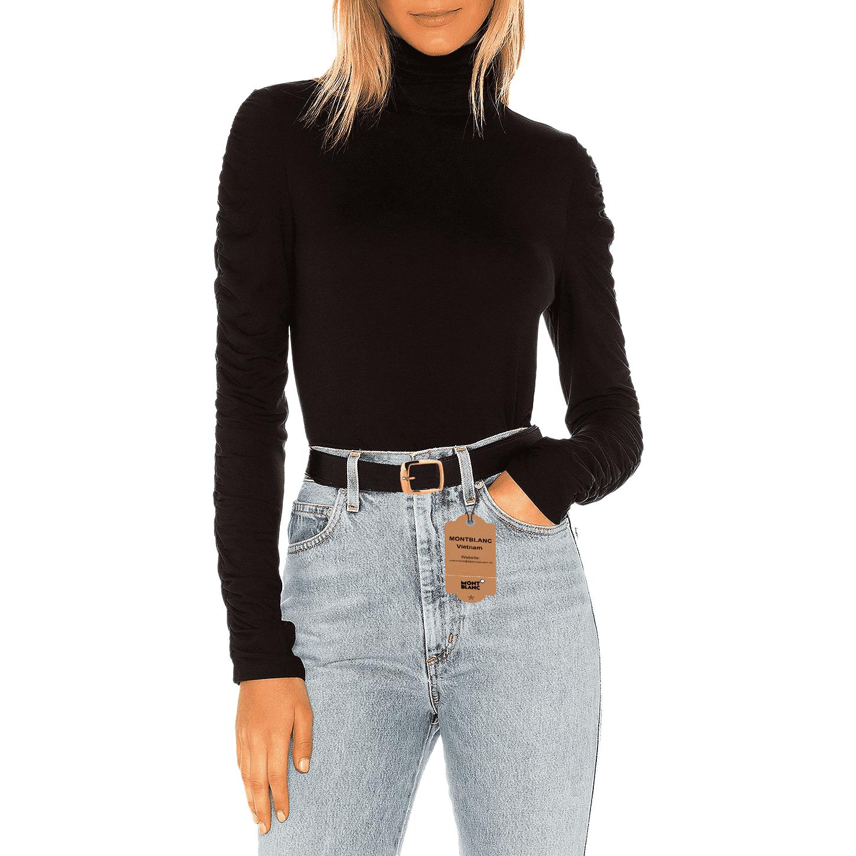Nữ giới diện quần Jean cùng dây nịt thắt lưng Montblanc chính hãng MB-05562