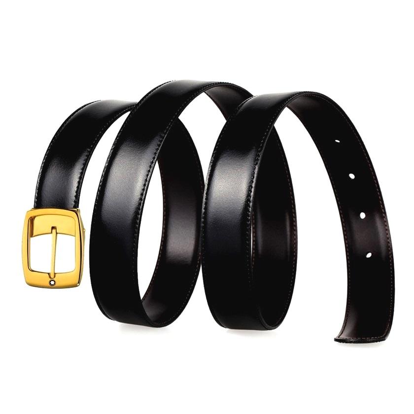 Dây thắt lưng Montblanc mạ vàng authentic dành cho nam và nữ giới mã MB-05562